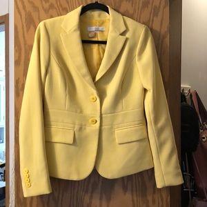 Yellow double lining blazer